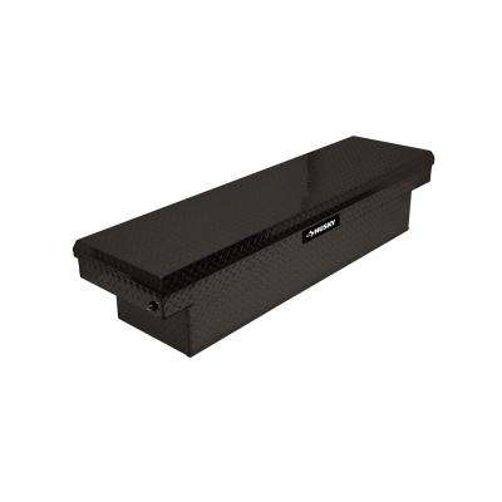 71.36 Matte Black Aluminum Full Size Crossbed Truck Tool Box