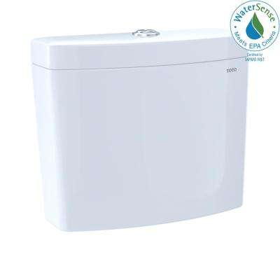 Aquia IV 0.8/1.28 GPF Dual Flush Toilet Tank Only in Cotton White