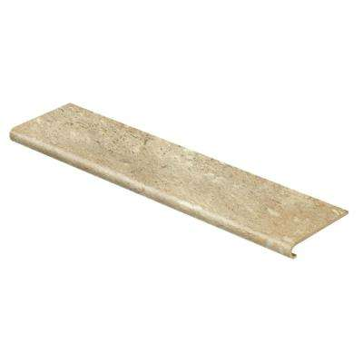 Vanilla Travertine 47 in. Length x 12-1/8 in. Deep x 1-11/16 in. Height Laminate to Cover Stairs 1 in. Thick