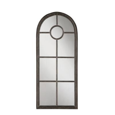 Large Arch Black Antiqued Contemporary Mirror (53.75 in. H x 23 in. W)