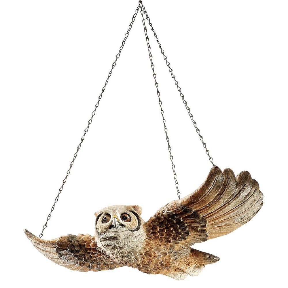 Design Toscano 3 5 In H The Garden Owl Hanging Sculpture Ng31625 The Home Depot
