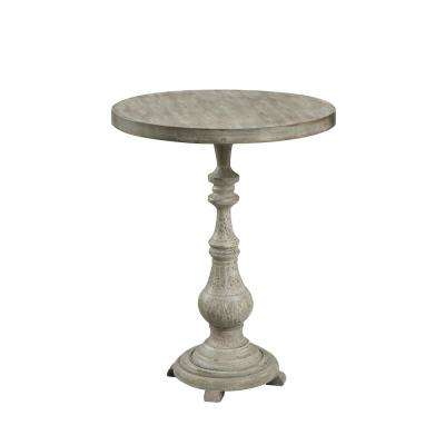 Wyoming China Fir Antique Wood Spindle Accent Table