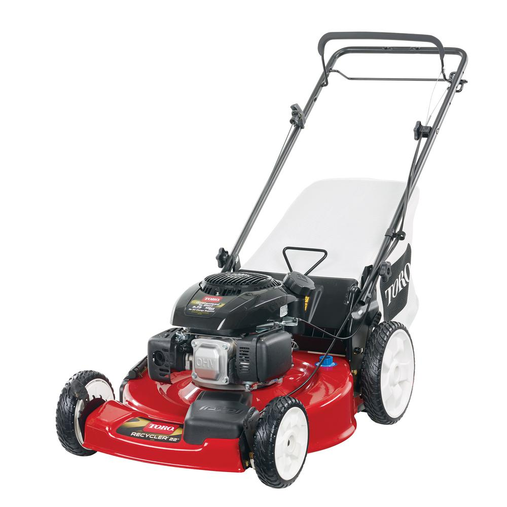 Lawn Mower Gas Self Propelled 22 Inches High Rear Wheel