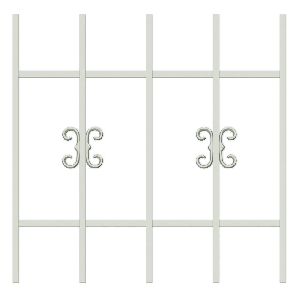 Unique Home Designs Moorish Lace 24 in. x 24 in. Almond 5-Bar Window Guard-DISCONTINUED