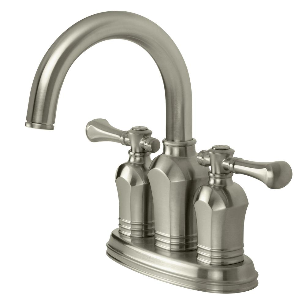 Pegasus Verdanza 4 in. Centerset 2-Handle Bathroom Faucet in Brushed ...