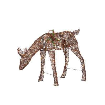 37 in. Christmas Animated Warm White LED Doe