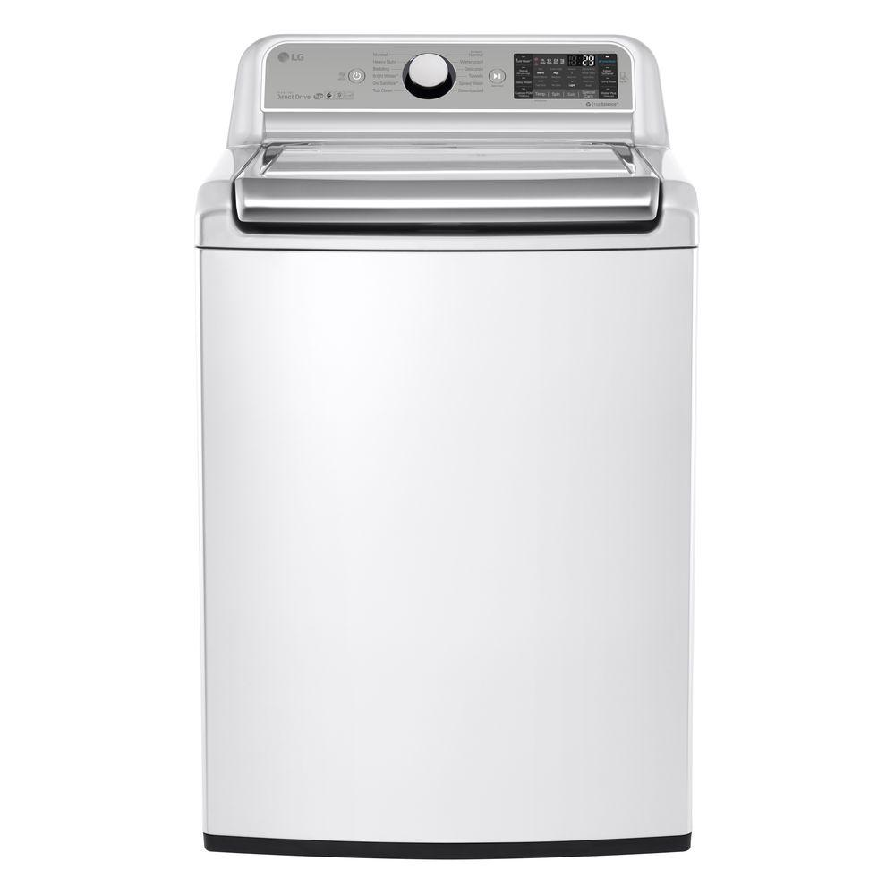 LG Electronics 5.2 cu. ft. High Efficiency Top Load Washer in White with Turbo Wash, ENERGY STAR