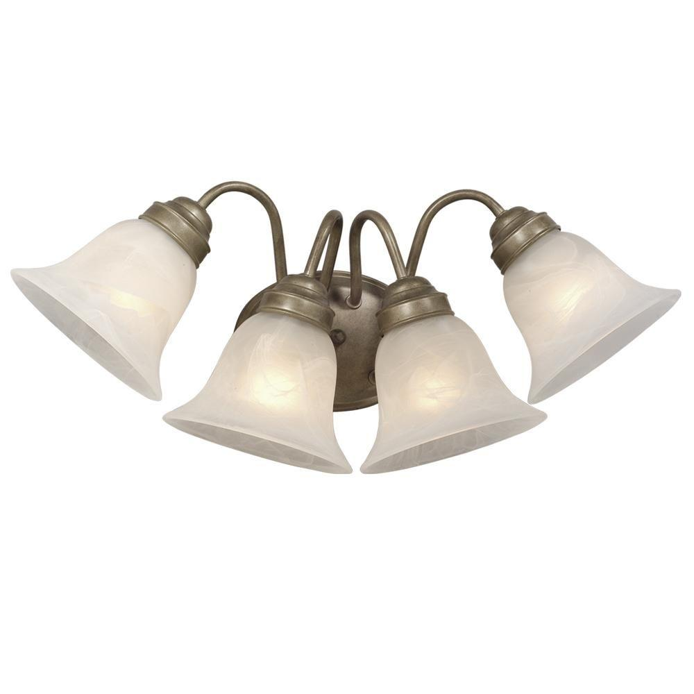 Filament Design Vanity Lighting : Filament Design Negron 4-Light Gold Incandescent Bath Vanity Light-CLI-XY5194597 - The Home Depot