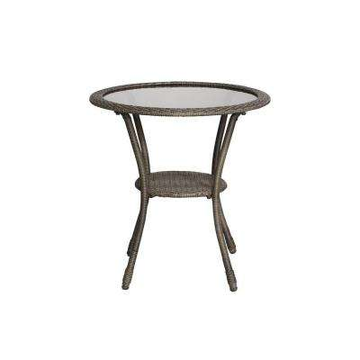 Spring Haven Grey Wicker Outdoor Patio Bistro Table
