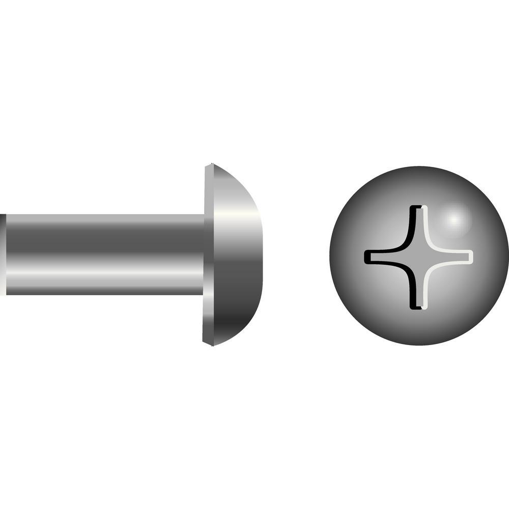 10 - 24 x 1/2 in. Truss Head Phillips Barrel Nut (25-Piece)