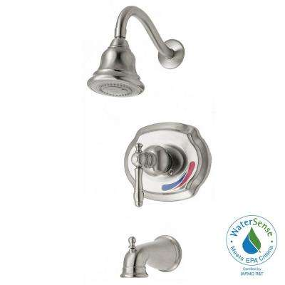 Lyndhurst WaterSense Single-Handle 1-Spray Tub and Shower Faucet in Brushed Nickel (Valve Included)