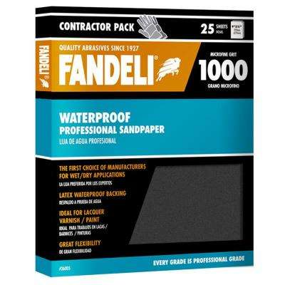 9 in. x 11 in. 1000 Grit Microfine Silicon Carbide Waterproof Sandpaper (25-Pack)