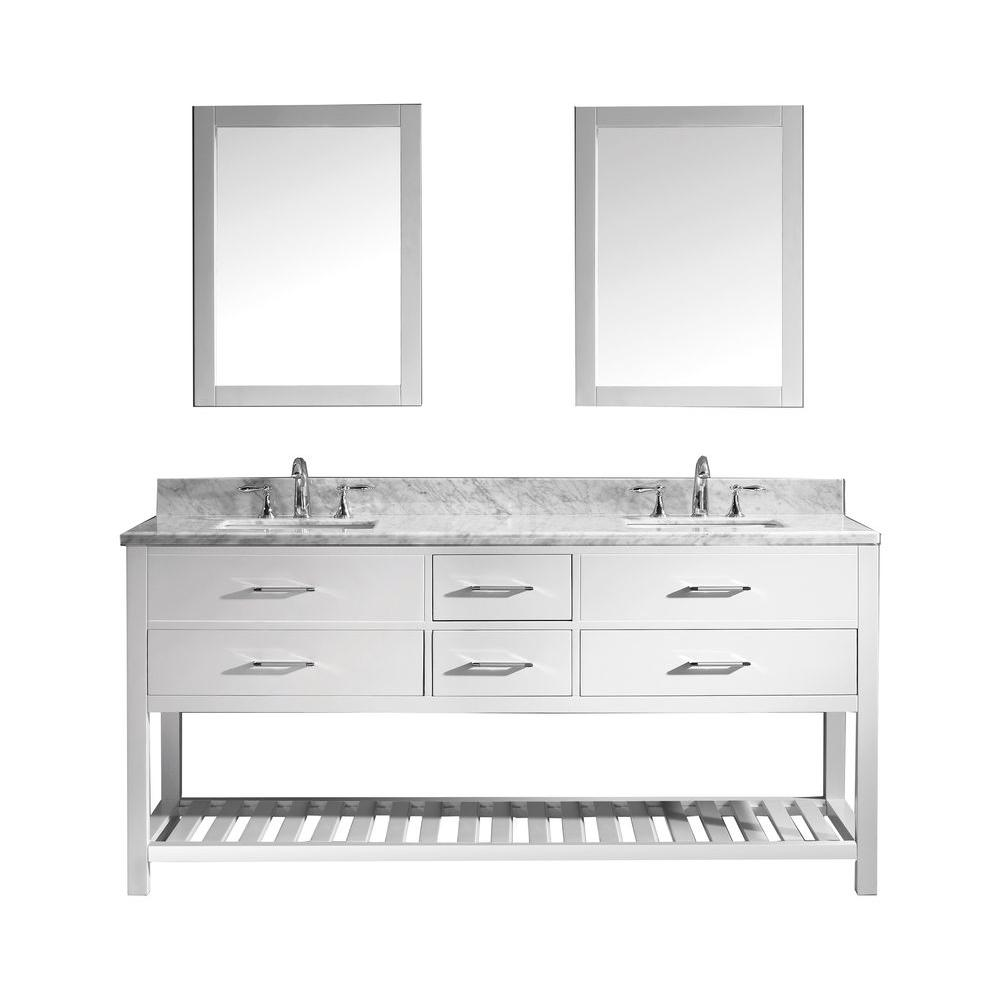 white bathroom vanity mirror virtu usa caroline estate 72 in w bath vanity in white 21478