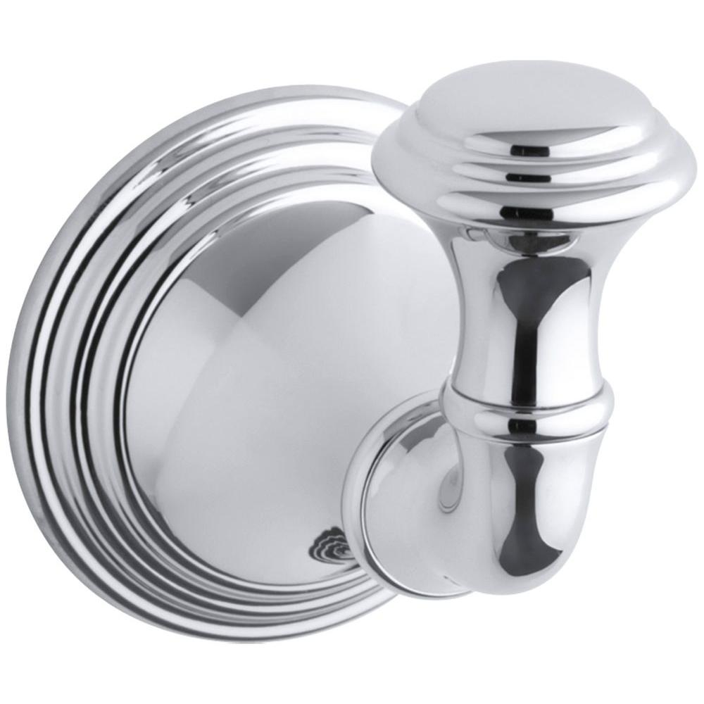 Devonshire Single Robe Hook in Polished Chrome