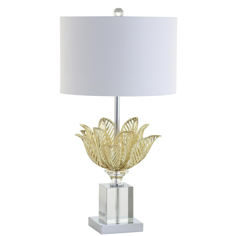Mia 24 5 In Clear Gold Crystal Table Lamp Jyl2017a The Home Depot