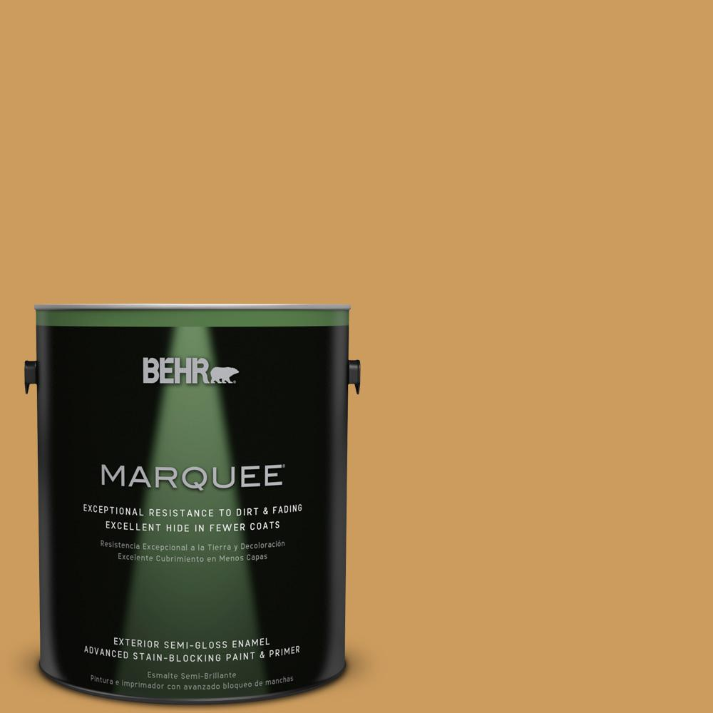 BEHR MARQUEE 1-gal. #UL150-2 Hammered Gold Semi-Gloss Enamel Exterior Paint