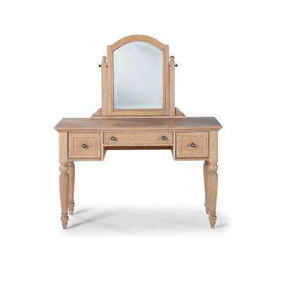 Cambridge White Washed Maple Vanity and Mirror