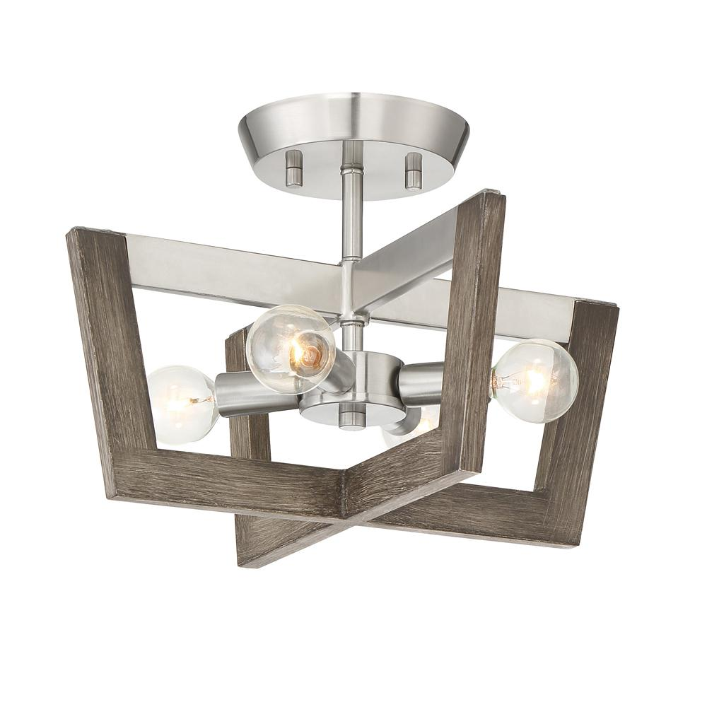 Designers Fountain Westend 14 In 4 Light Satin Platinum Interior Semi Flush Mount