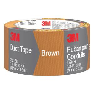 3M 1.88 inch x 20 yds. Brown Duct Tape (Case of 12) by 3M