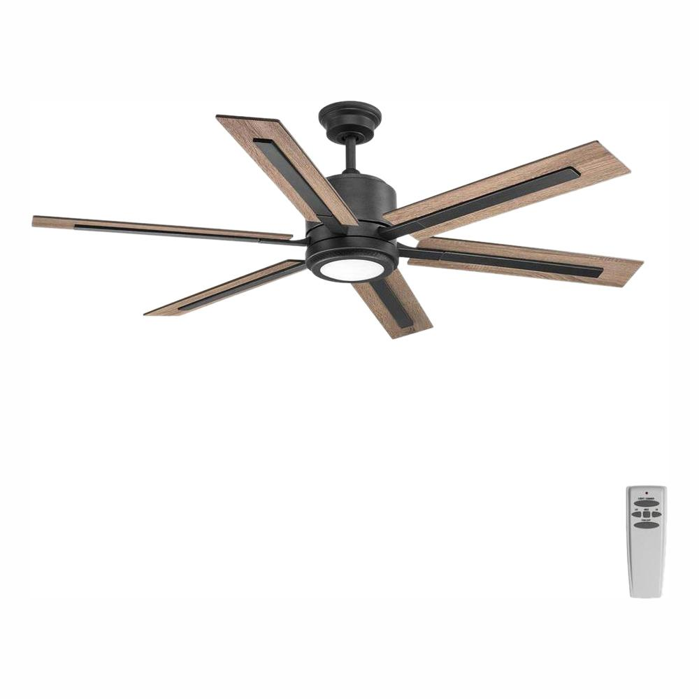 Progress Lighting Glandon 60 in. LED Indoor Gilded Iron Ceiling Fan with Light Kit and Remote