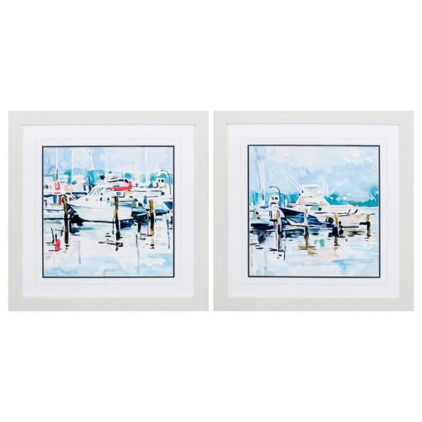 Homeroots Victoria White Gallery Frame Set Of 2 365525 The Home Depot