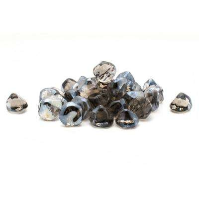 20 lb. Decorative Fire Glass Black Diamonds