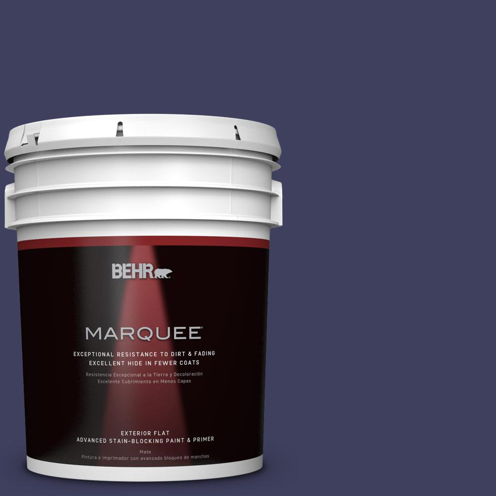 BEHR MARQUEE Home Decorators Collection 5-gal. #HDC-MD-01 Majestic Blue Flat Exterior Paint