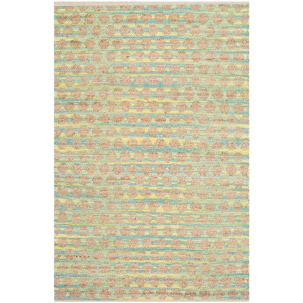 Safavieh Cape Cod Teal/Natural 4 ft. x 6 ft. Area Rug