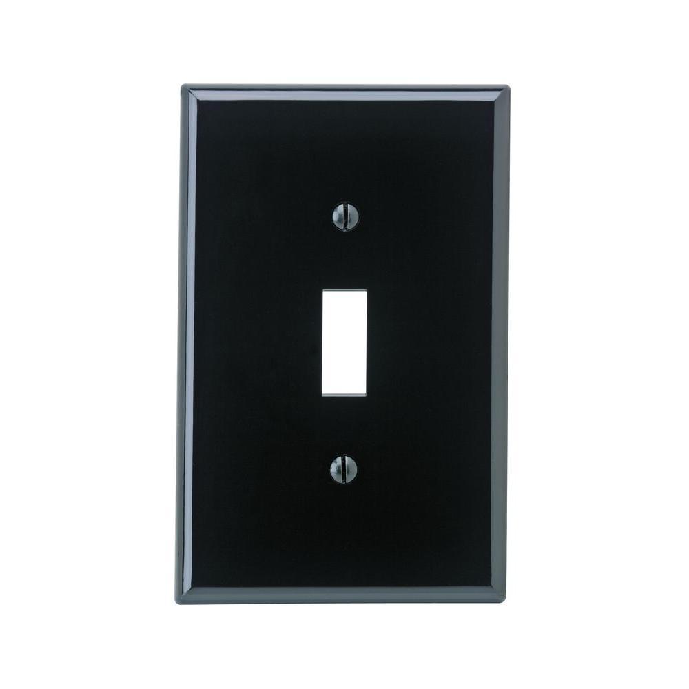 1-Gang Midway Toggle Nylon Wall Plate, Black
