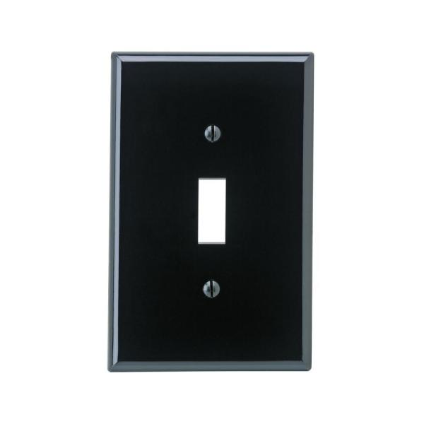 1-Gang Midway Toggle Nylon Wall Plate, Black