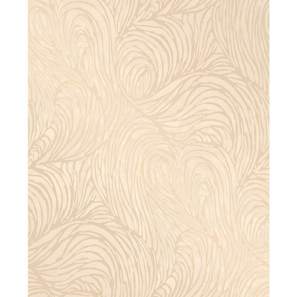 Andie Gold Swirl Wallpaper Sample