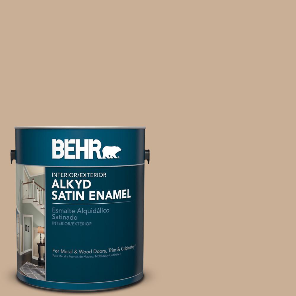 1 gal. #N260-3 Polo Tan Satin Enamel Alkyd Interior/Exterior Paint