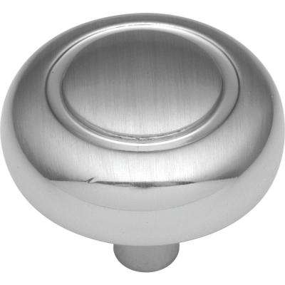 Eclipse 1-1/4 in. Satin Silver Cloud Cabinet Knob