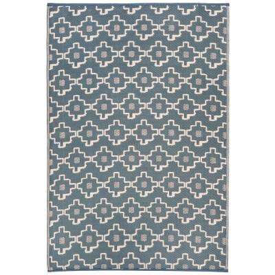 Copenhagen Indoor/Outdoor Multi Gray 5 ft. x 8 ft. Area Rug
