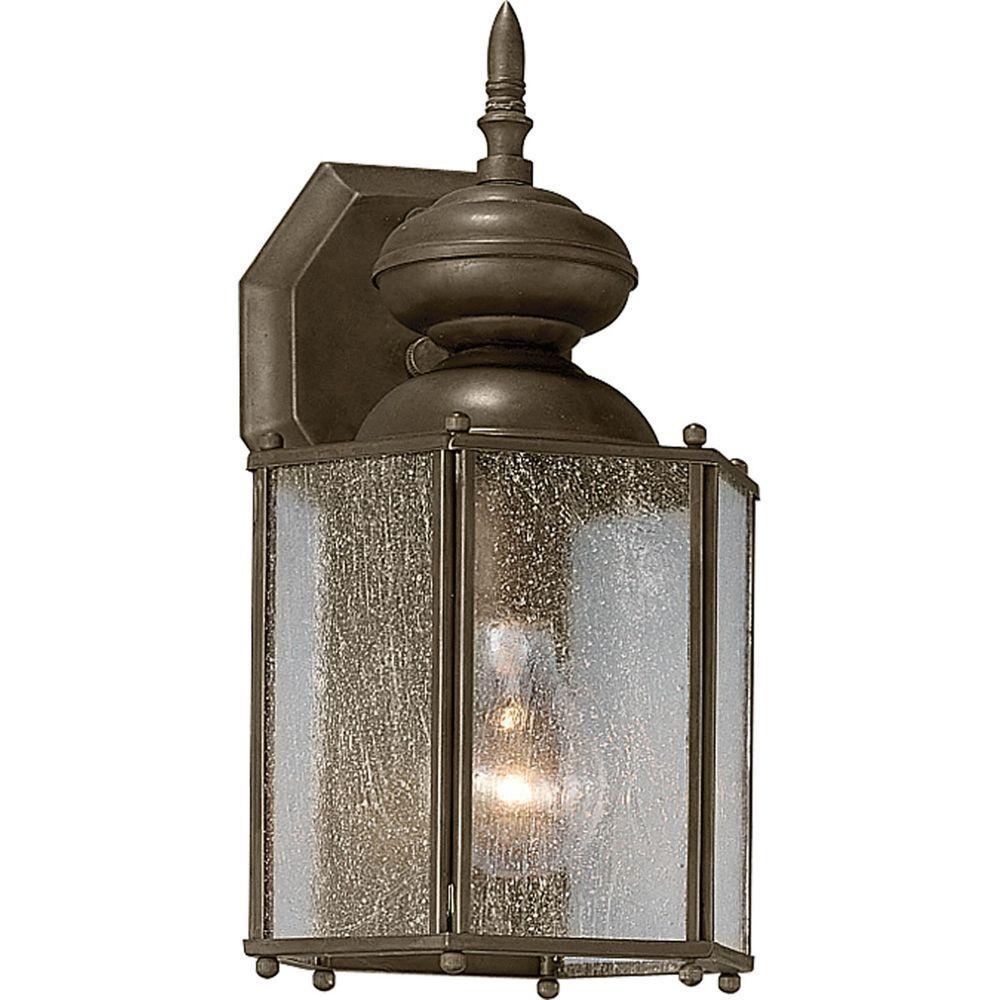Progress Lighting Roman Coach Collection 1 Light Outdoor Antique Bronze Wall Lantern