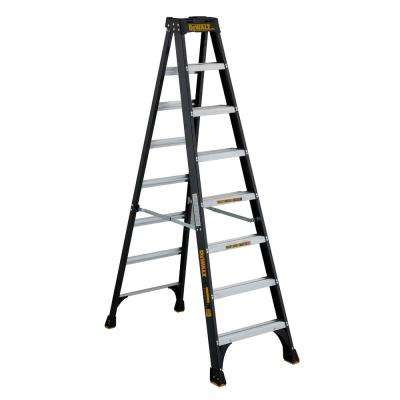 8 ft. Fiberglass Stepladder, 12 ft. reach 300 lbs. Load Capacity, Type IA