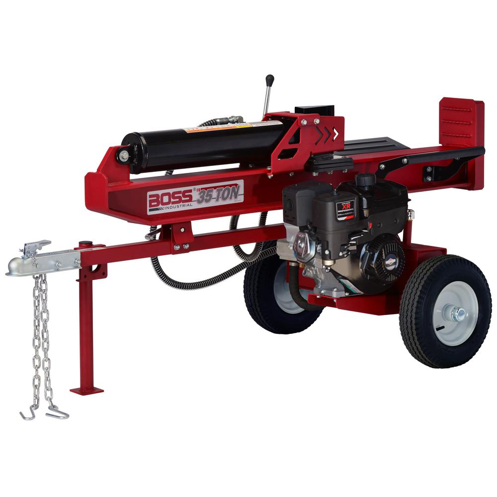 Boss Industrial 35-Ton 306 cc Horizontal/Vertical Gas Log Splitter ...