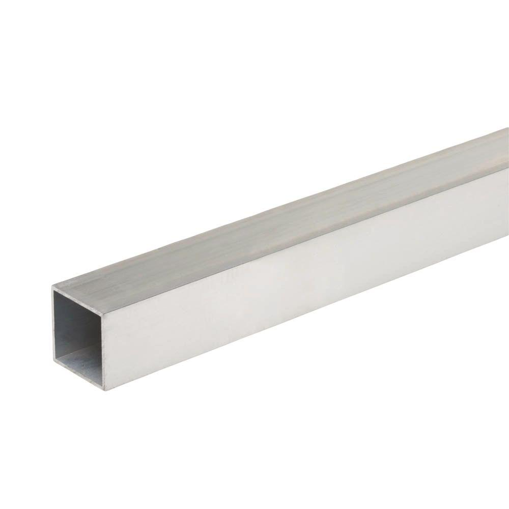48 in  x 3/4 in  x 1/16 in  Aluminum Square Tube-801317