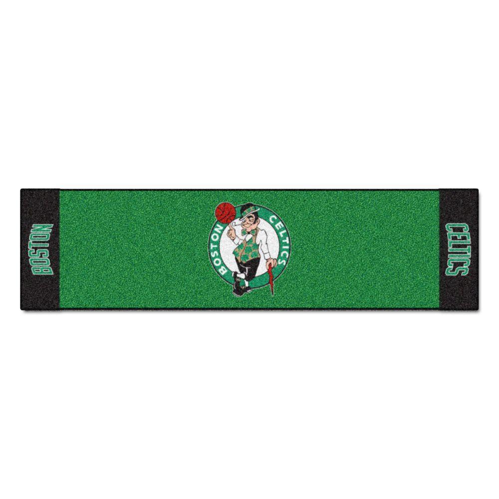 NBA Boston Celtics 1 ft. 6 in. x 6 ft. Indoor 1-Hole Golf Practice Putting Green