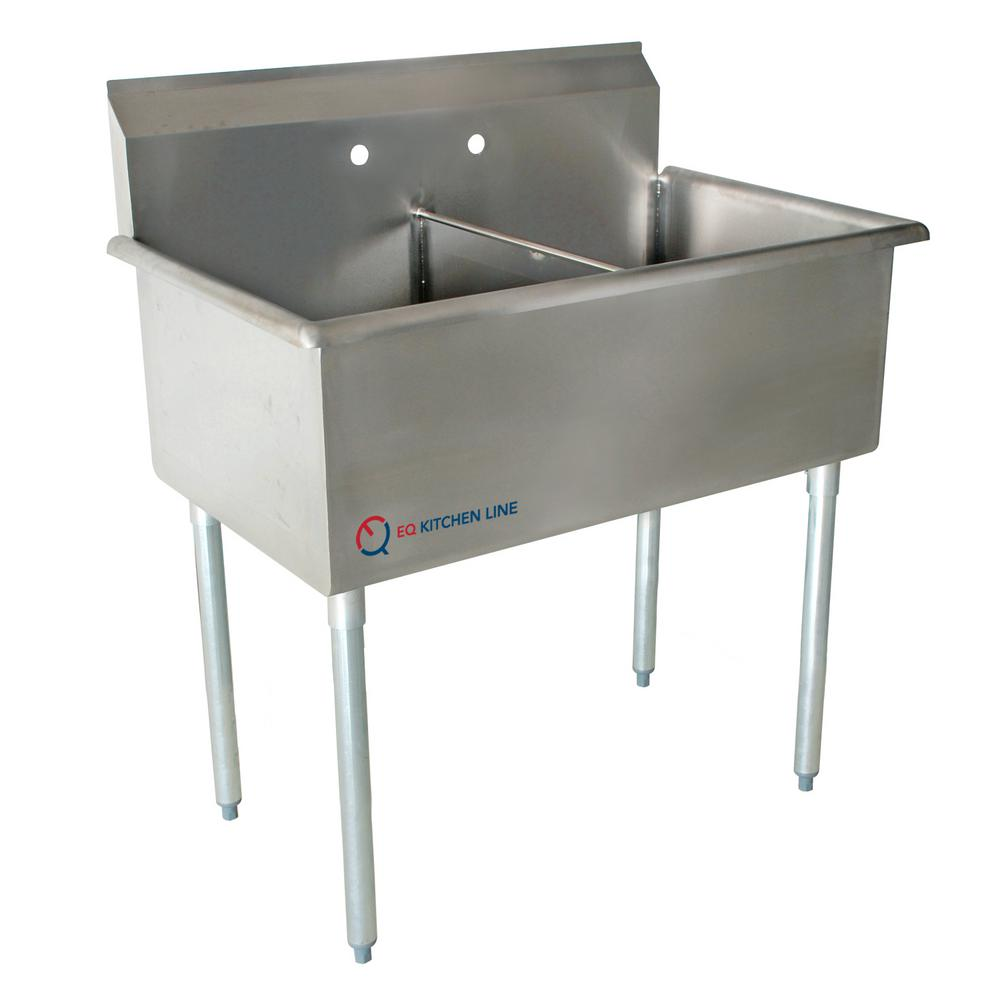 Freestanding Stainless Steel 51 in. x 27.5 in. x 43.75 in.