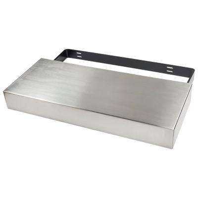 Floating Shelf Kit 24 in. x 10 in. x 3 in. Stainless Steel
