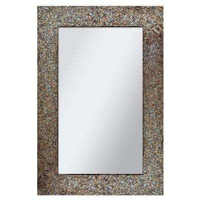 Amber Mosaic 36 in. x 24 in. Framed Wall Mirror