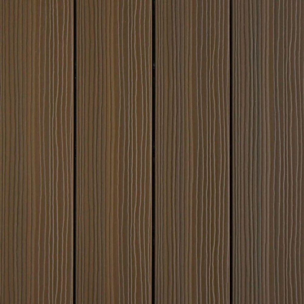 UltraShield 12 in. x 12 in. x 1 ft. Quick Deck Outdoor Brazilian Ipe Composite Decking Tile Sample