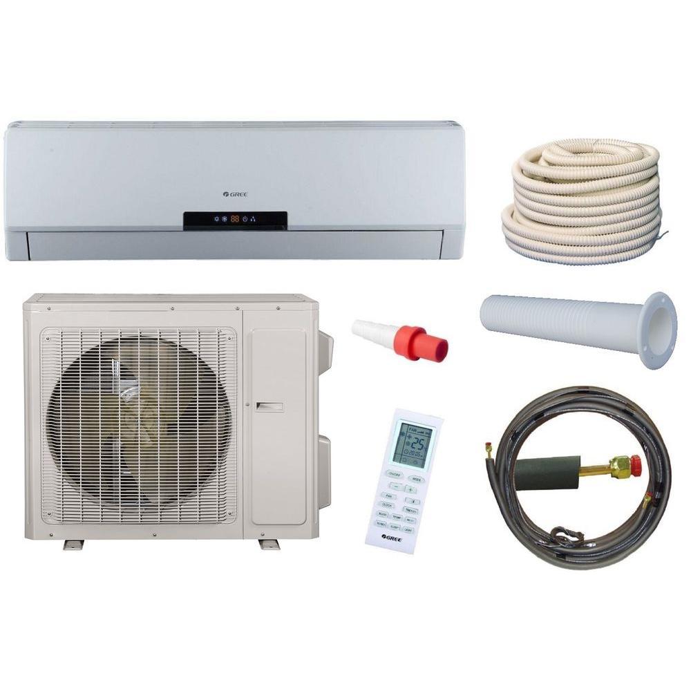 GREE Neo 30,000 BTU 2.5 Ton Ductless Mini Split Air Conditioner and Heat Pump Kit - 208-230V/60Hz