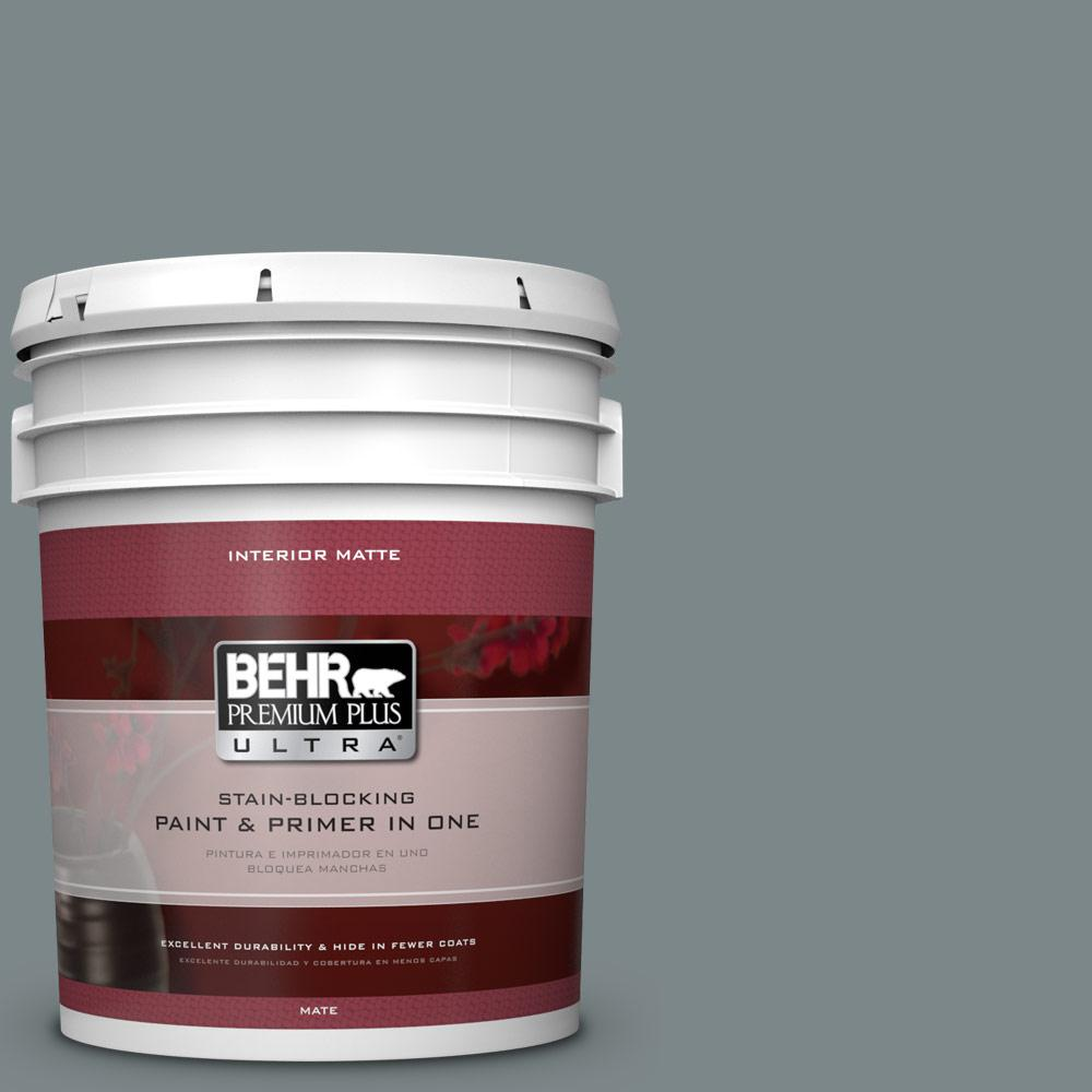 BEHR Premium Plus Ultra 5 gal. #730F-5 Nature Retreat Flat/Matte Interior Paint