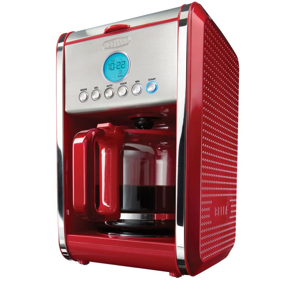 Bella Programmable 12-Cup Coffee Maker in Red