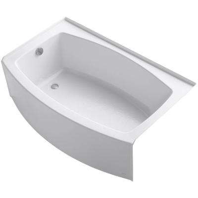 Expanse 5 ft. Acrylic Left-Hand Drain Rectangular Alcove Bathtub in White