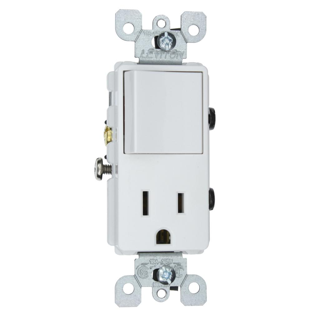 leviton combo switch wiring leviton 15 amp decora commercial grade combination single ... leviton dual switch wiring diagram
