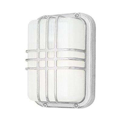 Walker White 1-Light Outdoor Bulkhead
