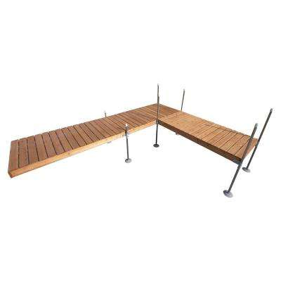 16 ft. L-Style Cedar Complete Dock Package